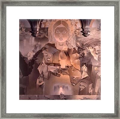 The Cosmic Christ 1976 Framed Print by Glenn Bautista