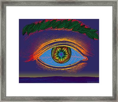 The Cosmic Eye Framed Print