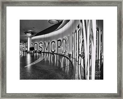 The Cosmopolitan Hotel Las Vegas By Diana Sainz Framed Print