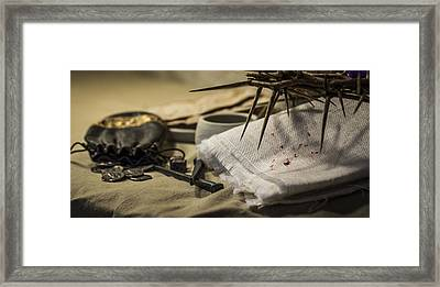 The Cost Of Betrayal Framed Print by Amber Kresge