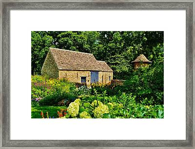 The Cotswald Barn And Dovecove Framed Print