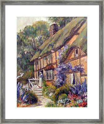 The Cottage Framed Print by Donna Tucker
