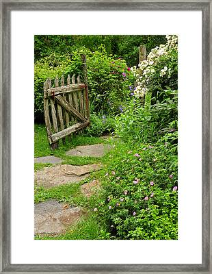 The Cottage Garden Walkway Framed Print by Thomas Schoeller