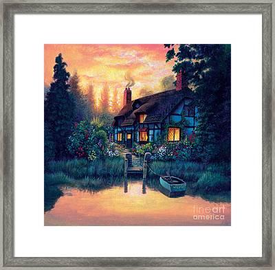 The Cottage Framed Print by MGL Studio - Chris Hiett
