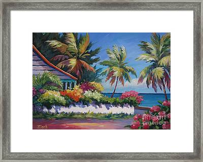 The Cottage On The Corner Framed Print by John Clark