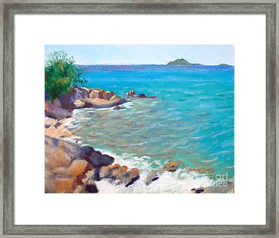 The Cottage View Framed Print by Candace Lovely