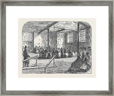 The Cotton Famine Waiting Room At The District Provident Framed Print by English School