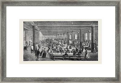 The Cotton Famine Working Mens Dining Hall Gaythorn Cooking Framed Print by English School