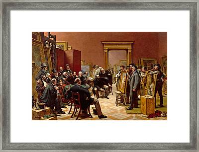The Council Of The Royal Academy Selecting Pictures For The Exhibition Framed Print by Charles West Cope