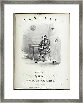 The Count Pestall Sitting In His Call Framed Print by British Library