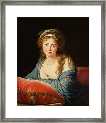 The Countess Catherine Vassilievna Skavronskaia Framed Print by Elisabeth Louise Vigee-Lebrun