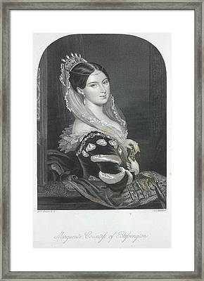 The Countess Of Blessington Framed Print by British Library
