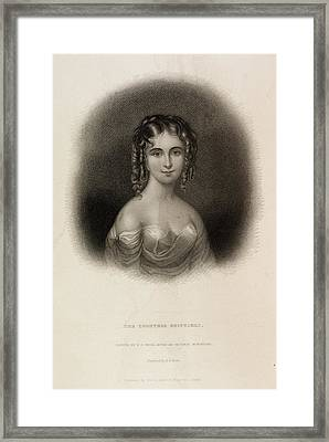 The Countess Teresa Guiccioli Framed Print by British Library