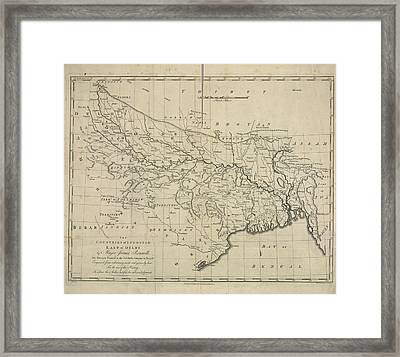 The Countries Of Indostan East Of Delhi Framed Print