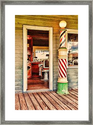The Country Barber Framed Print