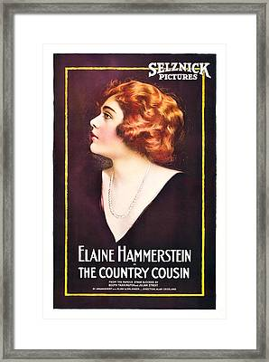 The Country Cousin, Elaine Hammerstein Framed Print by Everett