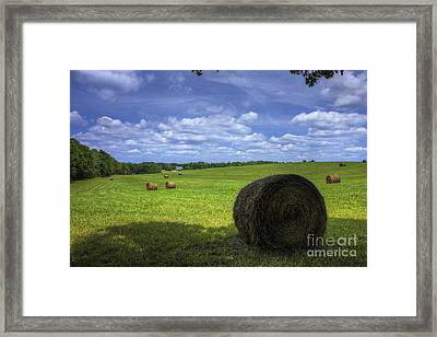 The Country House Hayfield Framed Print by Reid Callaway