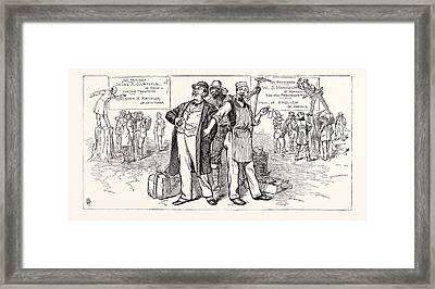 The Country Is Safe. Republican Orators If The Democratic Framed Print