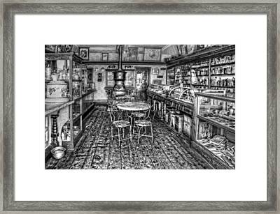 The Country Store Black And White Framed Print by Ken Smith