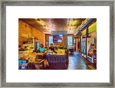 The Country Store - Impressionistic - Nostalgic Framed Print by Barry Jones
