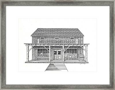 The Country Store Framed Print by J W Kelly