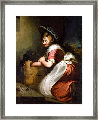 The Countrymans Lunch Framed Print by George Morland