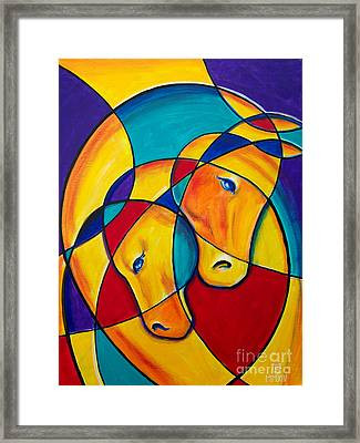 The Couple In Love Framed Print by Sergey Malkov