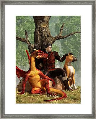 The Courageous Hunters Framed Print by Daniel Eskridge