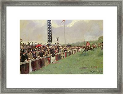 The Course At Longchamps Framed Print