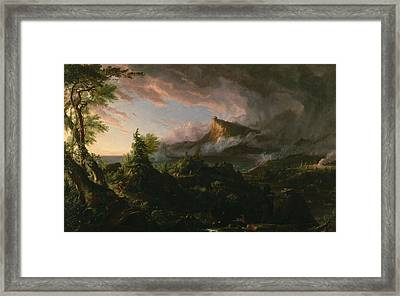 The Course Of Empire The Savage State  Framed Print by Thomas Cole