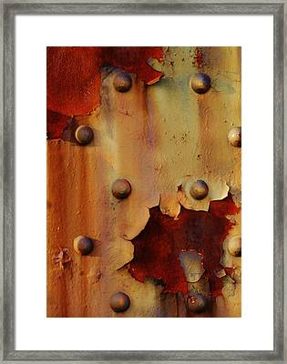 The Course Of Rust Framed Print by Charles Lucas