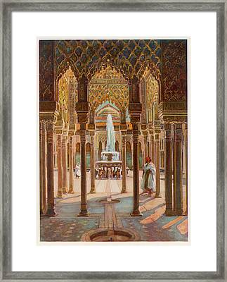 The Court Of Lions          Date Circa Framed Print by Mary Evans Picture Library