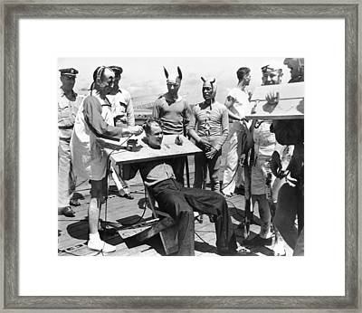 The Court Of Neptunus Rex Framed Print by Underwood Archives