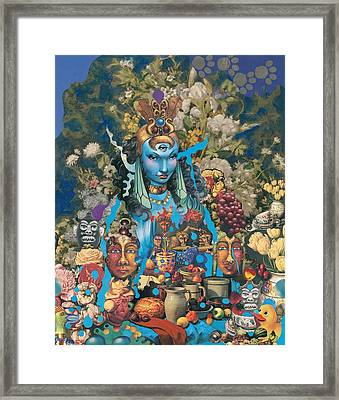 The Court Of The Blue Princess Framed Print