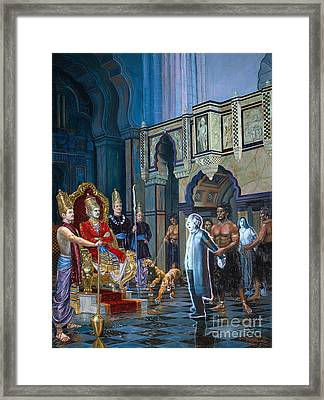 The Court Of Yamaraja Framed Print by Dominique Amendola