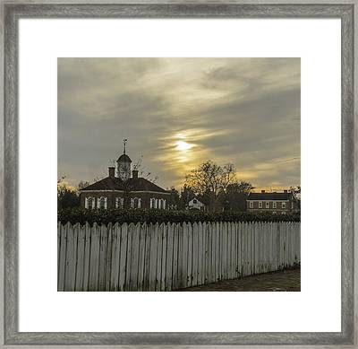 The Courthouse At Colonial Williamsburg Framed Print