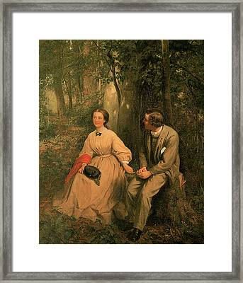 The Courtship Framed Print by George Cochran Lambdin