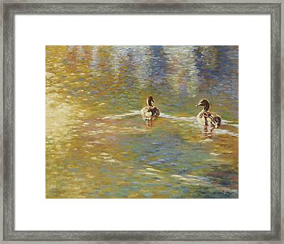 The Courtship Framed Print by Gini Heywood