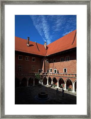 The Courtyard Of 15th Century Framed Print