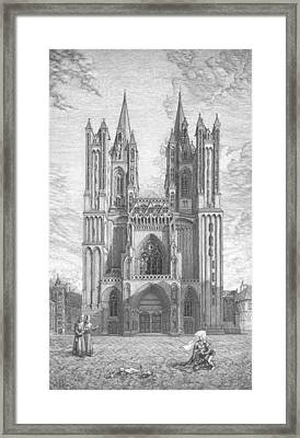 The Coutances Sun Of Harmony. The Central Part Of The Triptych - The Age Of Cathedrals Framed Print
