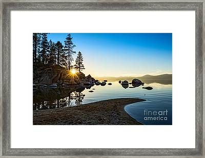 The Cove At Sand Harbor Framed Print by Jamie Pham