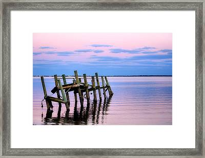Framed Print featuring the photograph The Cove Dock by Brian Hughes