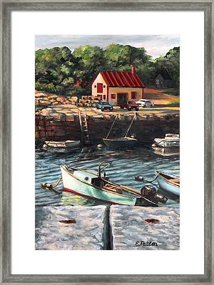 The Cove Framed Print by Eileen Patten Oliver
