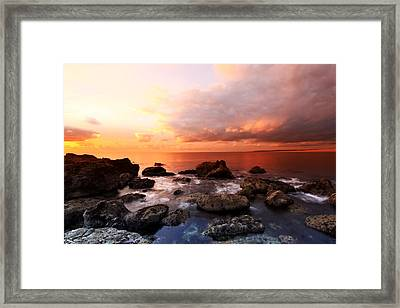 The Cove Sunset Framed Print by Ollie Taylor