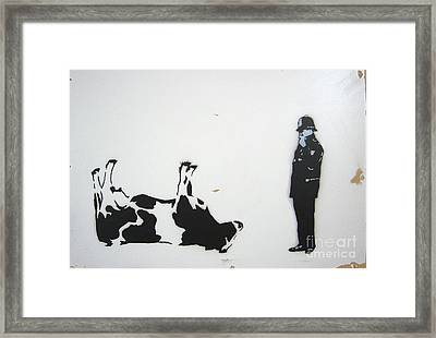 The Cow Framed Print by Bela Manson