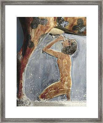 The Cow Goddess Hathor Breast Feeding Framed Print