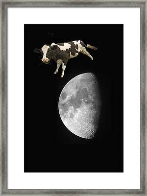The Cow Jumped Over The Moon Framed Print by John Short