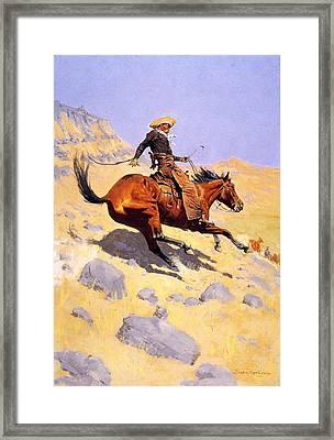 The Cowboy Framed Print by Fredrick Remington
