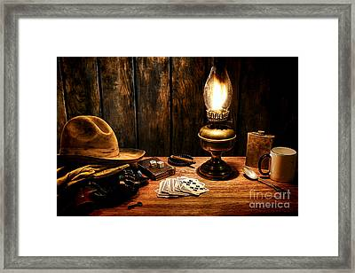 The Cowboy Nightstand Framed Print
