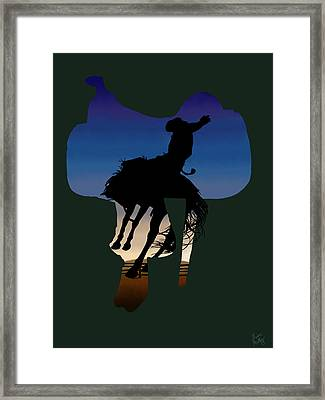 The Cowboy Way 3.. Long Day At The Office Framed Print